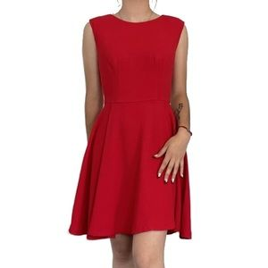 The Limited Sleeveless A-Aline Red Dress Sz - 2